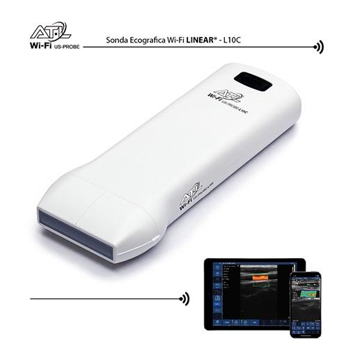 Sonda Ecogr-Sonda-ecografica-WiFi-Lineare-Color-Doppler-Wireless-Ulrasound-Probe