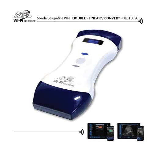 Sonda ecografica Wireless Double Head Lineare+Convex - doppler Wi-Fi Ultrasound Probe