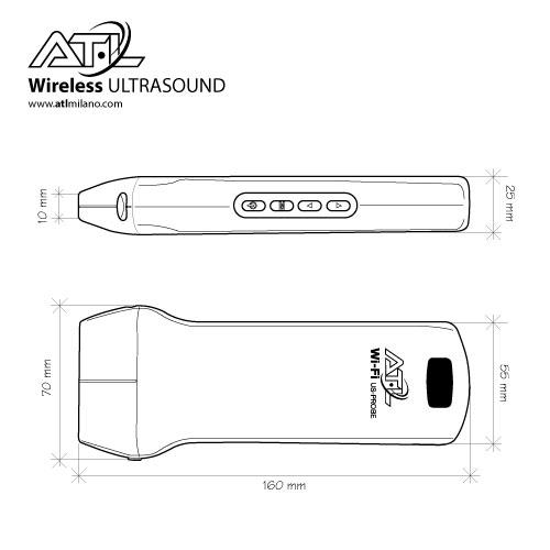 Wireless Ultrasound Probe Linear