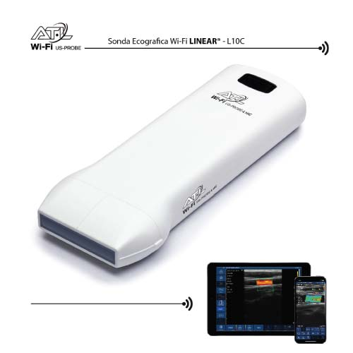 Sonda ecografica Wireless Linear 7,5-10 MHz -Color doppler Wi-Fi Ultrasound Probe