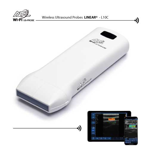 Wireless Ultrasound probes Color Doppler Linear