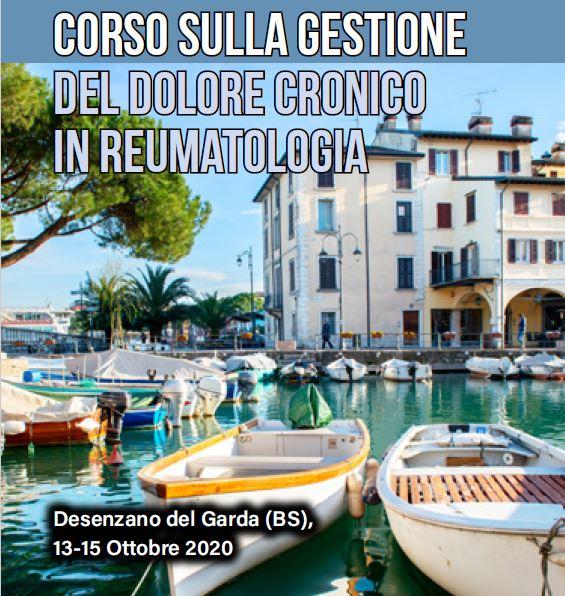Corso sulla gestione del dolore cronico in reumatologia Desenzano del Garda (BS), 13-15 Ottobre 2020