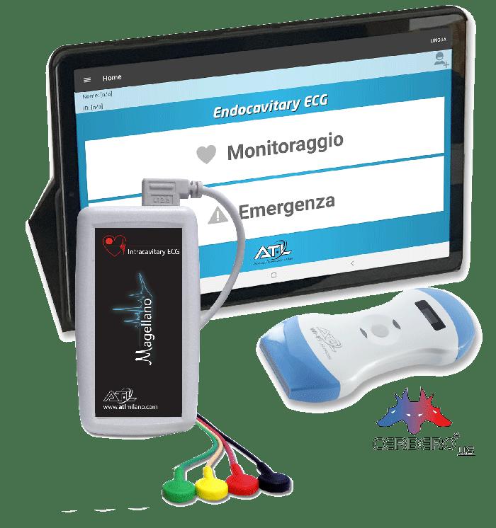 Magellano-ECG-intracavitario-endocavitario-Cerbero-ATL-Ecografo-Wireless-Color-Doppler